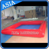 Piscina inflable modificada para requisitos particulares de la manera roja/piscina cuadrada inflable de la dimensión de una variable