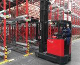 Corredor de la paleta con la gerencia de inventario para el almacenaje compacto del almacén