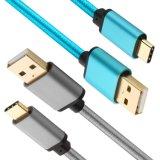 USB c кабеля USB c Nylon Braided к быстрому кабелю заряжателя для примечания 8/S8/S8+ галактики Samsung, LG V30 G6 G5 V20, пиксела XL Google, игры Moto Z/Z2