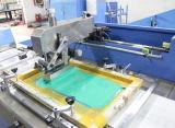 Etiquetas tejidas multicolores máquina de impresión de pantalla con dos lados Imprimir