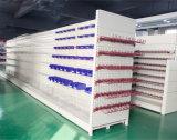 Boa qualidade de lado duplo prateleiras dos supermercados Gondola Farmácia com ganchos de rack
