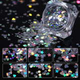 Ultrathin Sequins Colorful Round 3D Nail Art Mixed Size Glitter
