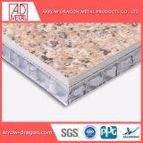 Einfach kosteneffektives Steinfurnier-blattaluminiumbienenwabe-Panels für Spalte-Deckel zusammenbauen