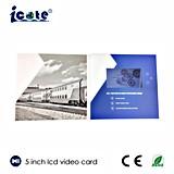 Folleto video pantalla del LCD de 5 pulgadas para la publicidad de producto/el saludo/la invitación/el regalo del festival