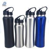 Bottiglia di acqua larga della bocca di vuoto dell'acciaio inossidabile con la protezione della paglia
