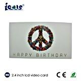 Venta caliente folleto video del LCD de 2.4 pulgadas con alta calidad