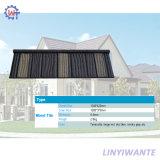 Mattonelle di tetto rivestite di legno di metallo della pietra facile dell'installazione di resistenza termica