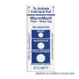 Document van de Sticker van de Drempel van de Temperatuur van de tijd het Zelfklevende