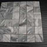 Mosaico di pietra grigio, mattonelle di mosaico di pietra della fabbrica per la parete