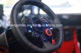 El coche de competición dinámico de la pantalla del coche 3 del simulador del coche de competición del coche de competición de coche 6dof