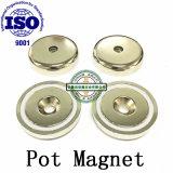 Неодимовый магнит потенциометра при помощи зенкера