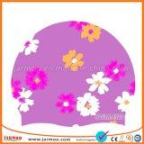 品質の花のシリコーンの子供の水泳の帽子