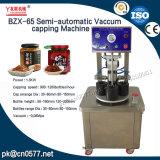 Halbautomatisches Vakuummit einer kappe bedeckende Maschine für Bohnen-Paste (BZX-65)