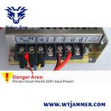 5アンテナ25W高い発電3Gの携帯電話のWiFiの妨害機(外の取り外し可能な電源と)