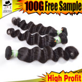 индийские свободные выдвижения волос Weave 6A