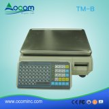 TM-B Precio Escala electrónica informática 30kg de peso la escala de impresión de etiquetas