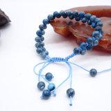 Braccialetto unisex Handmade di pietra naturale personalizzato delle donne della pietra preziosa del braccialetto