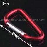 6# 알루미늄 Carabiner D 유형 봄 스냅 훅, Carabiner 훅