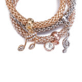 형식 지르콘 다이아몬드 다중층 팔찌 팔찌 보석