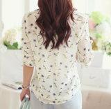 女性のブラウスの女性のための気が長いワイシャツの長い袖の軽くて柔らかいワイシャツ