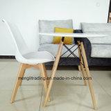 ブナの森の足の十字様式のチューリップの肘のない小椅子