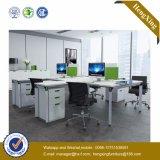 木MDFのオフィス用家具のスタッフL形ワークステーション(HX-NJ5035)