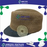 Sombrero ecuestre de la paja de papel de las nuevas mujeres del diseño (AZ024B)
