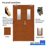 Fire-Rated la puerta de madera maciza de Villa
