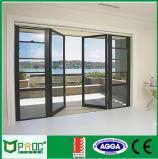 Baumaterial-Aluminiumflügelfenster-Tür mit dem Doppelten glasiert worden