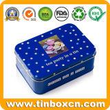 Rechteckige Cracker-Metallblechdose für das Geschenk-Zinn-Kasten-Verpacken