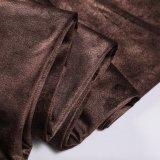 Бархат 2018 ткани Brown с пальто