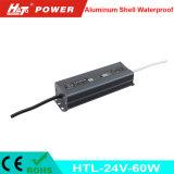 fonte de alimentação Htl do interruptor do transformador AC/DC do diodo emissor de luz de 24V 3A 60W