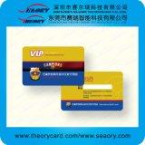 Golden/Argent/Blanc Carte d'ID de PVC en plastique d'impression
