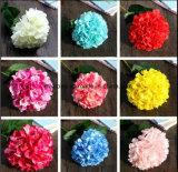 Ornamento de flores artificiais Fake plantas e flores de seda com Hortência Faux sai de casa em decoração de interiores