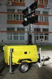 MetallHalide Lampe, die vertikaler hydraulischer Selbstmast-beweglichen heller Aufsatz-mobilen Beleuchtung-Aufsatz Genset Schlussteil Kubota Perkins Quanchai Yongdong Wuxi ineinanderschiebt