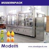 Automatischer Saft-waschende füllende und mit einer Kappe bedeckende Maschine