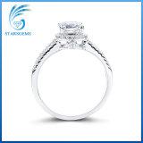 18K de witgoud Geplateerde Zilveren Ring Van uitstekende kwaliteit van het Zirkoon voor Verkoop