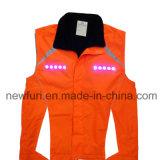 Cappotto riflettente infiammante all'ingrosso della vita della maglia dell'arancio LED dell'OEM