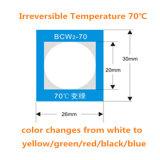 온도 탐지 과민한 난방 색깔 변화 레이블