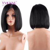 Yvonne-menschliches Jungfrau-Haarnatürliche gerade Bob-Spitze-Vorderseite-Perücke