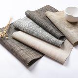 De milieuvriendelijke pvc Met een laag bedekte Mat van de Koffietafel van het Restaurant van de Stof van Textilene van de Polyester