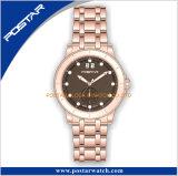 スイスのロンダの水晶動き円形の極度の夜光表示及び手の腕時計
