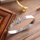 La nueva moda de joyería de acero inoxidable Pulsera Brazalete de plata