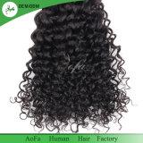 7A等級のねじれた巻き毛のバージンの人間の毛髪のモンゴルのRemyの毛
