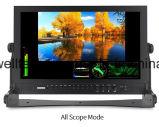 Luz de la cuenta de 3 colores visualización del LCD de 17.3 pulgadas con la entrada de información 3G-SDI