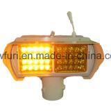 밝은 노란색 LED를 경고하는 태양 섬광 교통 신호