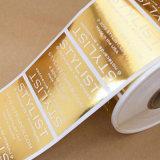 La aduana de la alta calidad imprimió la etiqueta engomada de papel de las escrituras de la etiqueta