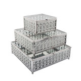 Caja de cristal de la joyería de la última decoración de la boda de China