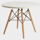 """Mesa redonda de 20"""" topo de MDF da perna de madeira estilo elegante preto mesa lateral para poupança de espaço"""