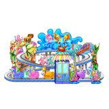 遊園地のための海の自動車パレードの電車の子供の乗車
